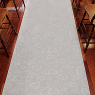 All Over Heart Fabric Aisle Runner in White
