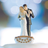 """Row Away"" Bride and Groom in Rowboat Cake Topper"