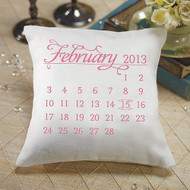 """Notable"" Personalized Ring Pillow with Wedding Date"
