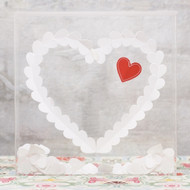 """From the Heart"" Transparent Acrylic Well Wishes Shadow Box"