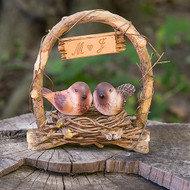 A Love Nest - Love Birds in Archway Cake Topper