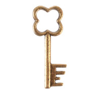 Clover Antique Key Charm (Set of 12)