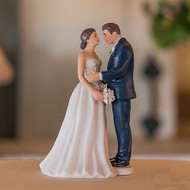 Contemporary Vintage Bride & Groom Cake Topper