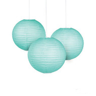 Mint Paper Lanterns (Set of 6)