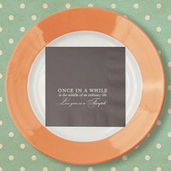 Love Gives Us a Fairytale ... Custom Wedding Napkins | Wedding Reception Napkins