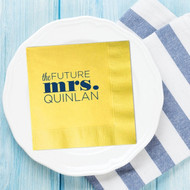 the FUTURE mrs. (Last Name) Personalized Bridal Shower Napkins | Bridal Shower Decor | Bridal Shower
