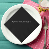 ALMOST MRS. (Last Name) Personalized Bridal Shower Napkins | Bridal Shower