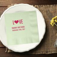 L{Heart}VE Personalized Wedding Napkins | Wedding Reception Napkins