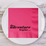 the adventure begins ... Custom Wedding Napkins | Wedding Reception Napkins