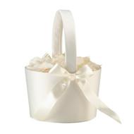 Round Flower Basket in Cream