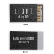 Light of My Life Personalized Classic Matchbox (Set of 50)