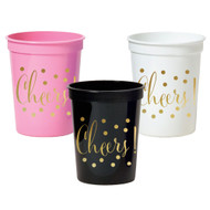 Gold Cheers Party Cups {Package of 25}