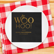 WOO HOO! ... Personalized Napkins | Engagement Party Napkins