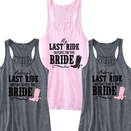 Last Ride ... Flowy Racerback Tank | Bachelorette Party Tank