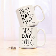 Personalized Best Day Ever 20 oz. Large Coffee Mugs {Set of 2}