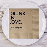 DRUNK IN LOVE. Personalized Wedding Napkins | Wedding Reception Napkins