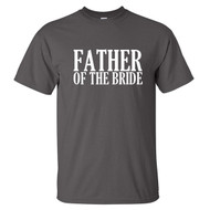 Father of the Bride T-Shirt {Block Font}