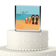 Soul Mates Flip Flop Acrylic Cake Top