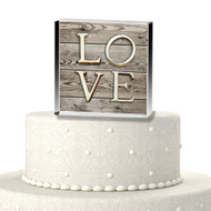Rustic LOVE Acrylic Cake Top