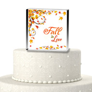 Fall in Love Acrylic Cake Top