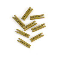 Sparkling Gold Glitter Mini Clothespins {Package of 8}
