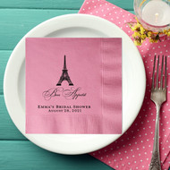Bon Appetit Paris Themed Personalized Napkins
