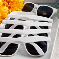 Perfectly Plain White Plastic Sunglasses