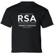 Personalized RSA Authorized Ring Security Agent T-Shirt {with Wedding Name and Date}