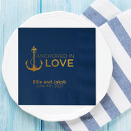 Anchored in LOVE Personalized Wedding Napkins | Wedding Reception Napkins
