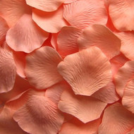 Dark Peach Silk Petals {Package of 100}