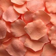Dark Peach Silk Petals {Package of 100}