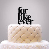 for like ever Acrylic Cake Top