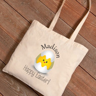 Personalized Chicks Easter Tote Bag