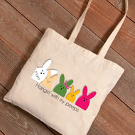 Hangin' with My Peeps Easter Tote Bag