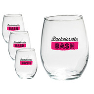 Bachelorette Bash 15 Ounce Stemless Wine Glasses {Set of 4}