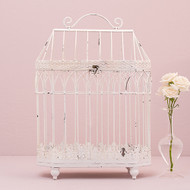 Conservatory Style Metal Bird Cage Card Holder