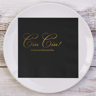 Cin Cin! Personalized Napkins | Wedding Reception Napkins
