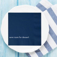 save room for dessert Custom Wedding Napkins | Wedding Reception Napkins