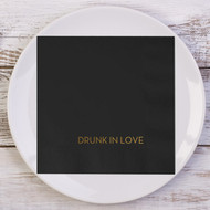DRUNK IN LOVE Custom Wedding Napkins | Wedding Reception Napkins