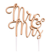 Mr & Mrs Cake Topper in Gold