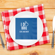 I DO BBQ Personalized Napkins | Engagement Party Napkins