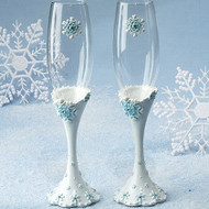 Winter Wonderland Toasting Flute Set