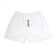 """Groom"" Boxers in White"