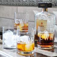 Etched Drinking Glass Set (Set of 4)