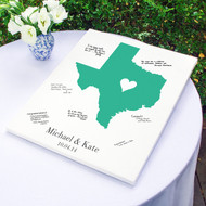 Personalized Home State Gallery Wrapped Canvas Guest Book