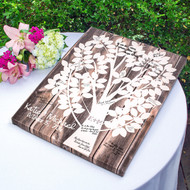 Personalized Our Family Tree Gallery Wrapped Canvas Guest Book