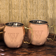 Personalized Moscow Mule Copper Mug (Set of 2)