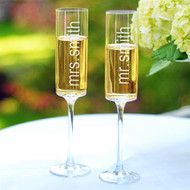 Contemporary Champagne Flutes