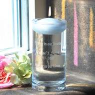 Floating Memorial Vase with Candle