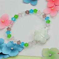 Little Girl's Flower Charm Bracelet